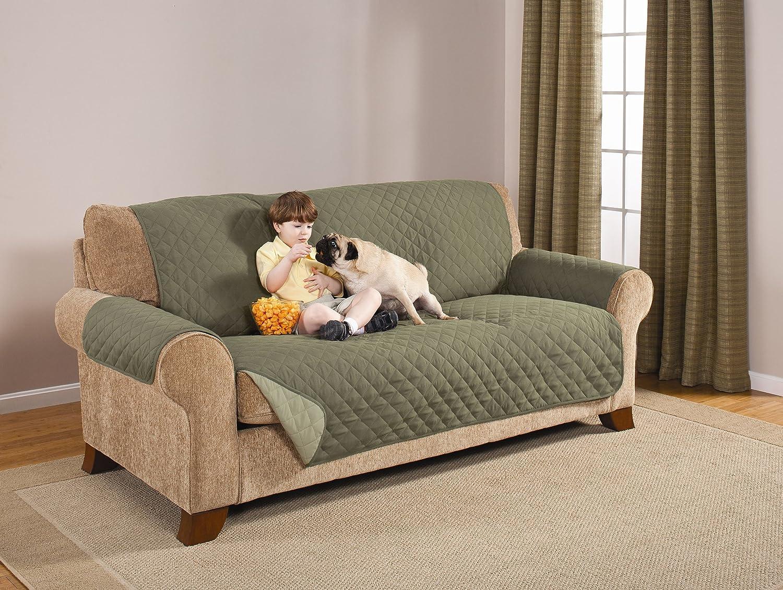Amazoncom Pegasus Home Reversible Furniture Protector Sofa Olive