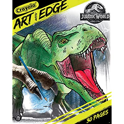 Crayola Art With Edge, Jurassic World Coloring Book, Gift for Teens, 30 Coloring Pages: Toys & Games