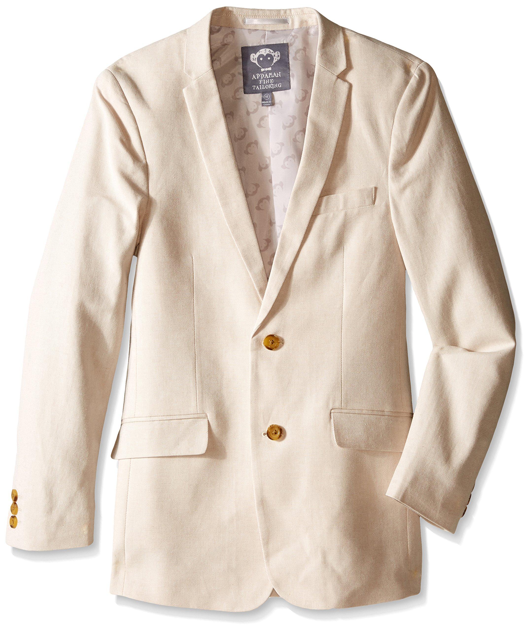 Appaman Big Boys' Tailoring Jacket, Sand, 10