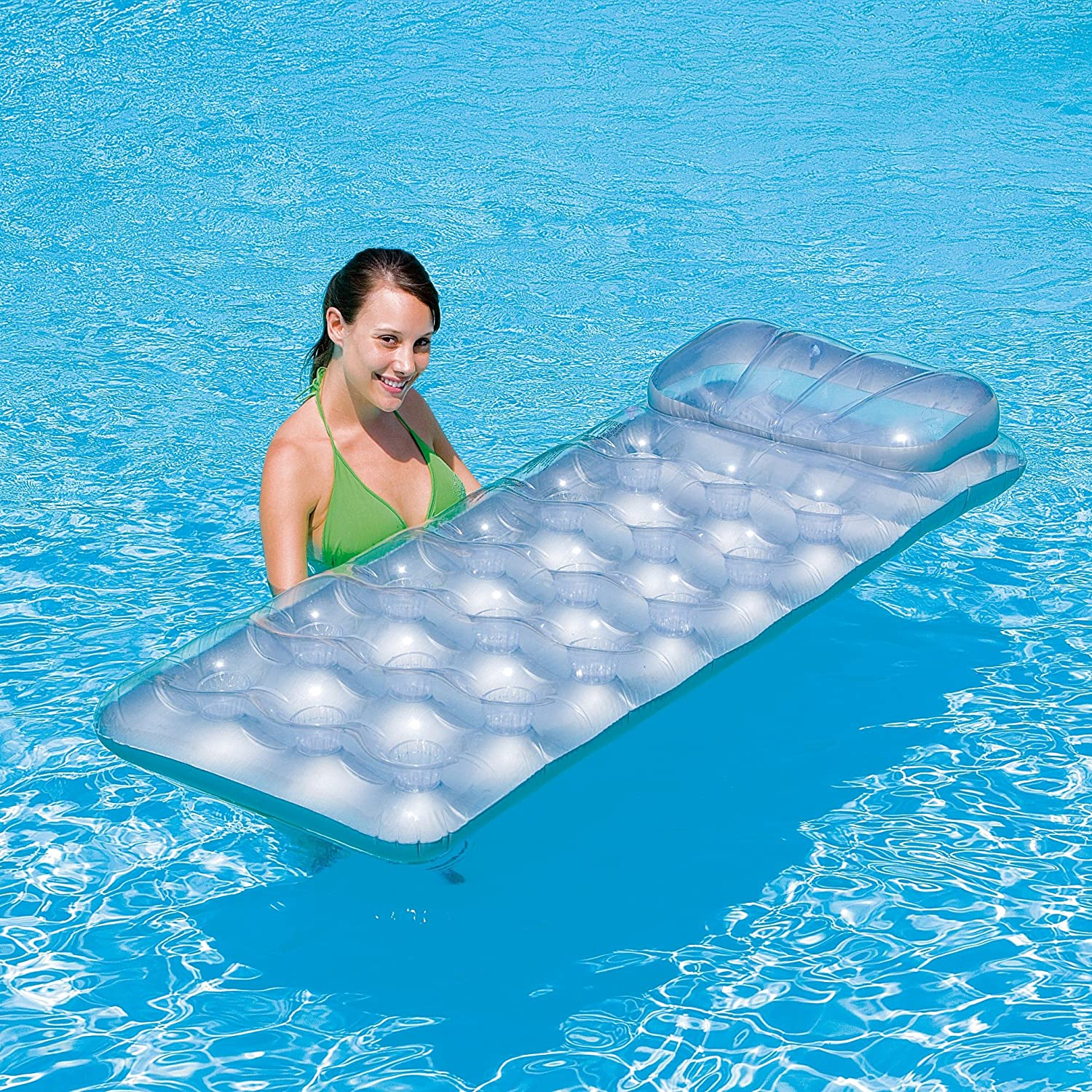 Metal Tech Lounge Inflatable Pool Float: Toys U0026 Games