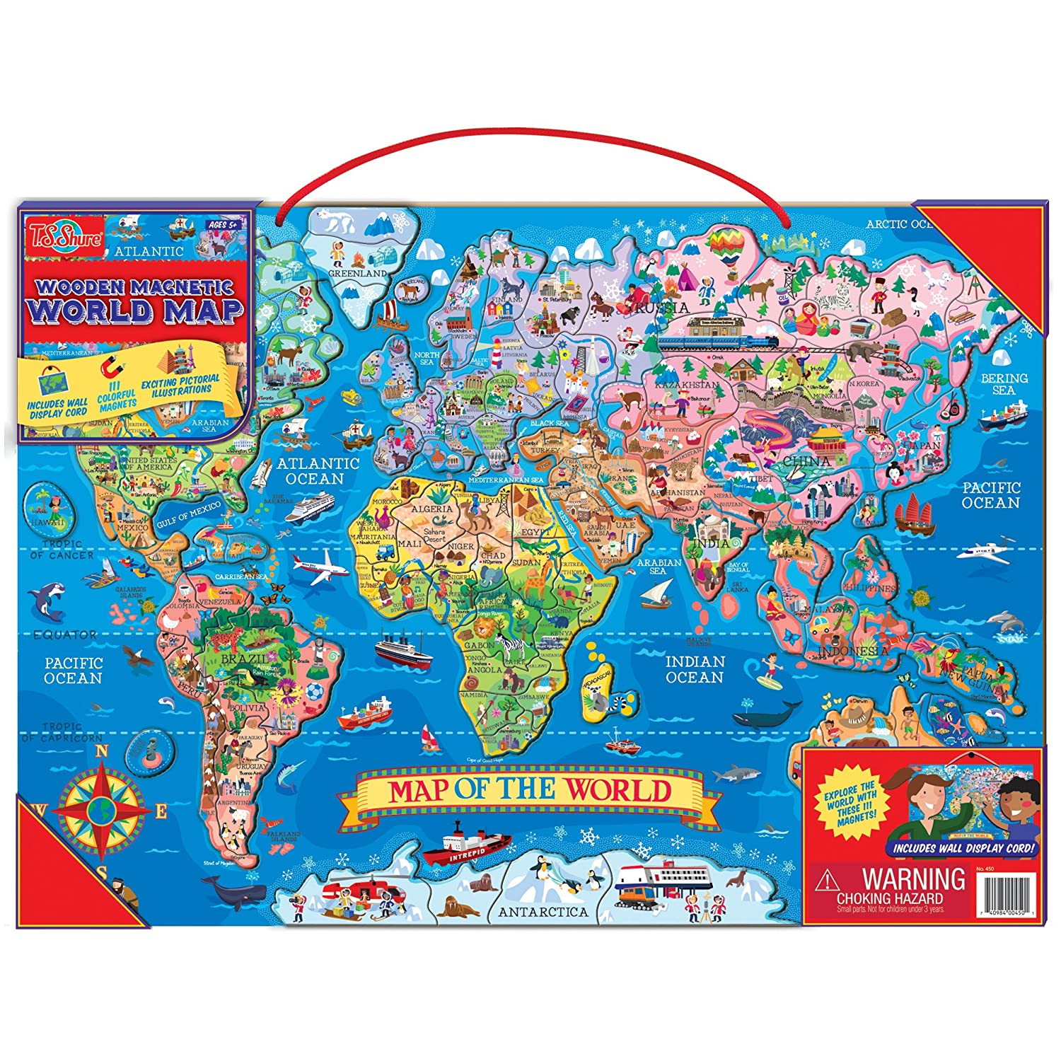 Amazoncom TS Shure Wooden Magnetic World Map Puzzle Toys Games - World maps online