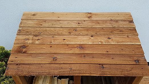 6 ft Heavy Duty tratada a presión de fresno Log Store - Caseta para leña y madera - Accesorio de: Amazon.es: Jardín