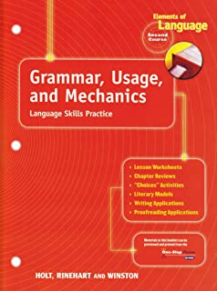 Grammar usage and mechanics elements of language 1st course holt elements of language grammar usage and mechanics language skills practice grade 8 fandeluxe Image collections