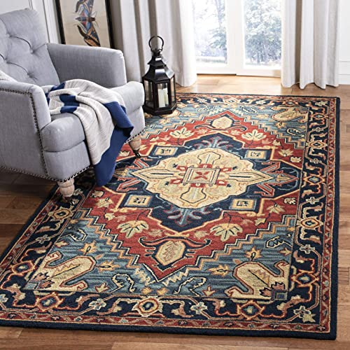 Safavieh Heritage Collection HG920Q Handmade Traditional Oriental Wool Area Rug