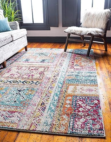 Unique Loom Monterey Collection Bohemian Tribal Vintage Bright Colors Multi Area Rug 10' 6 x 16' 5