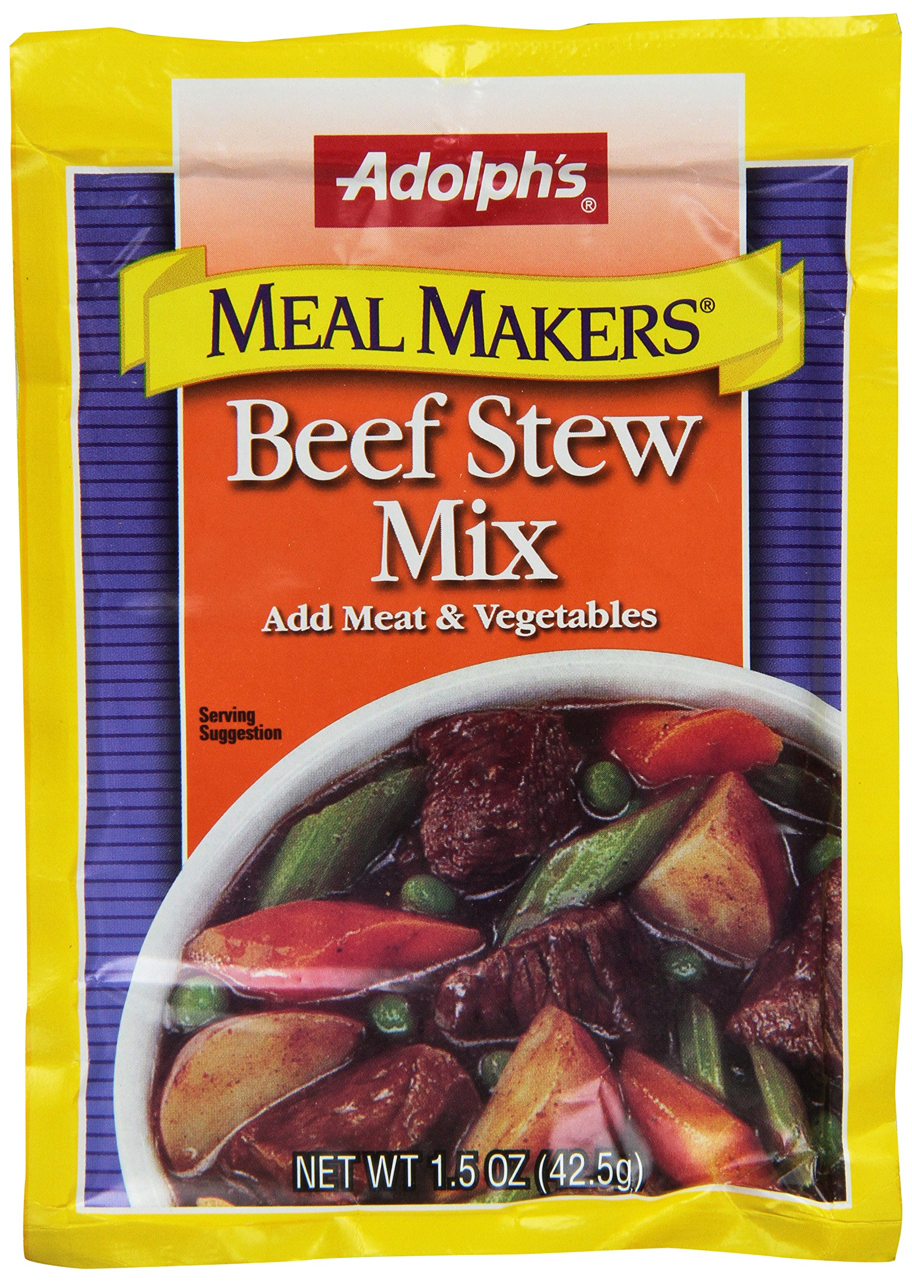 Adolph Seasoning Mix Beef Stew, 1.5-Ounce (Pack of 8) by Adolph's