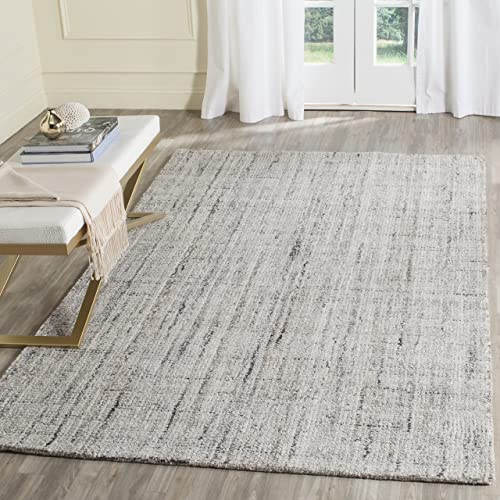 Safavieh Abstract Collection ABT141C Contemporary Handmade Camel and Black Polyester Blend Area Rug 8 x 10