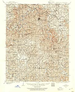 "Map Poster - Eureka Springs, Arkansas (1900), 1:125000 Scale, 24""x20"", Gloss Finish"