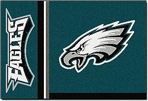 """FANMATS NFL Philadelphia Eagles Nylon Face Starter Rug,Team Color,19""""x30"""""""