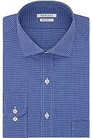 Van Heusen Men's Regular Fit Check Cutaway Collar Dress Shirt