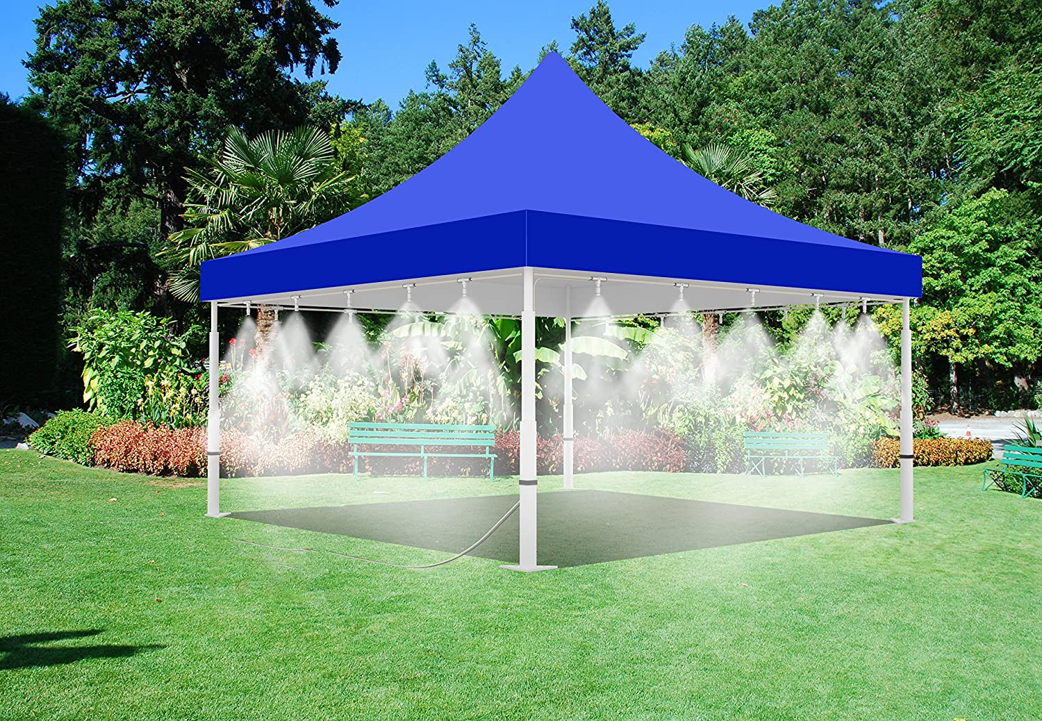 Misting Tent - 10u0027 x 20u0027 Tent with Mist System - for Outdoor Events - with Low Pressure Misting System - 20 Nozzle Misting System - Easy to Set-Up (10u0027 x ... & Amazon.com: Misting Tent - 10u0027 x 20u0027 Tent with Mist System - for ...