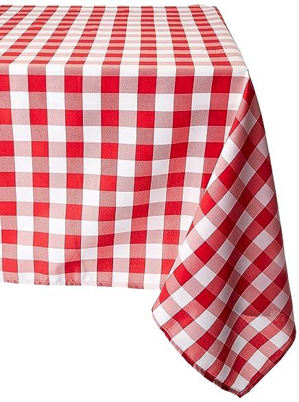 LinenTablecloth 70 Inch Square Tablecloth Red U0026 White Checker
