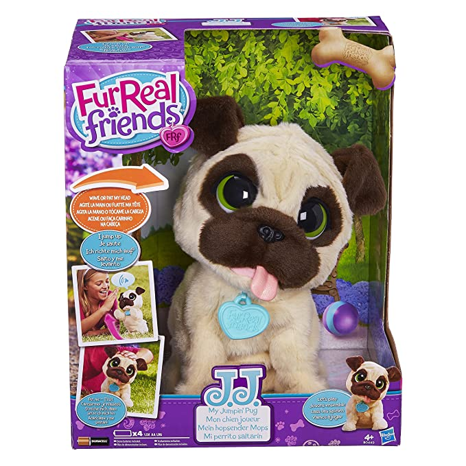Amazon Com Furreal Friends Jj My Jumping Pug Pet Toy Toys Games