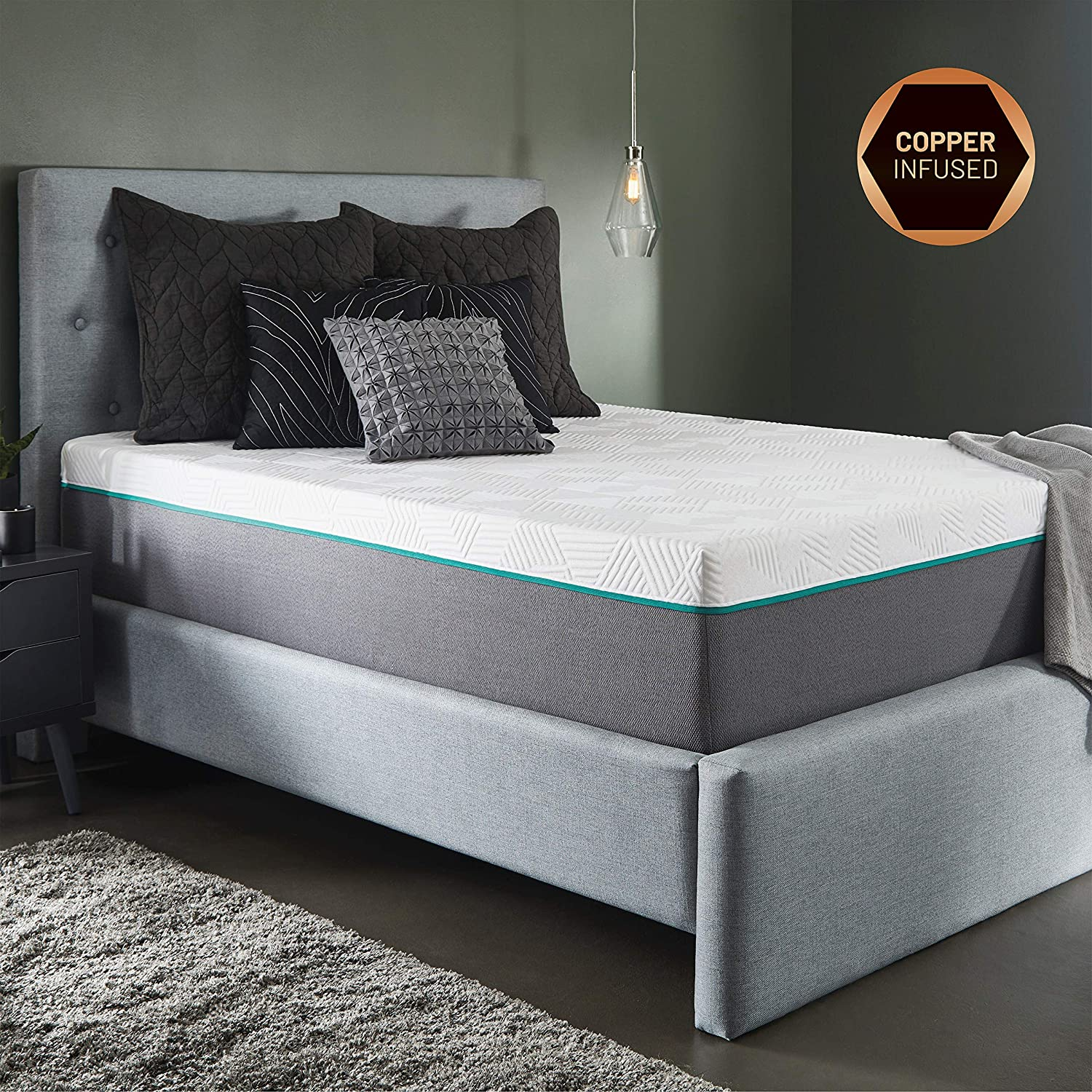 10-Inch Hybrid Mattress, Copper & Gel Infused Memory Foam Cool Sleep