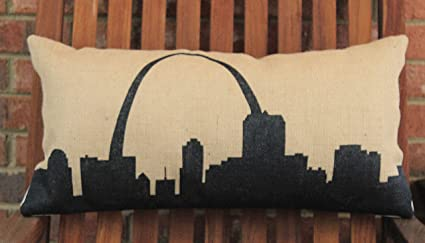Astonishing Amazon Com Murieljerome Hand Painted St Louis Mo Skyline On Squirreltailoven Fun Painted Chair Ideas Images Squirreltailovenorg