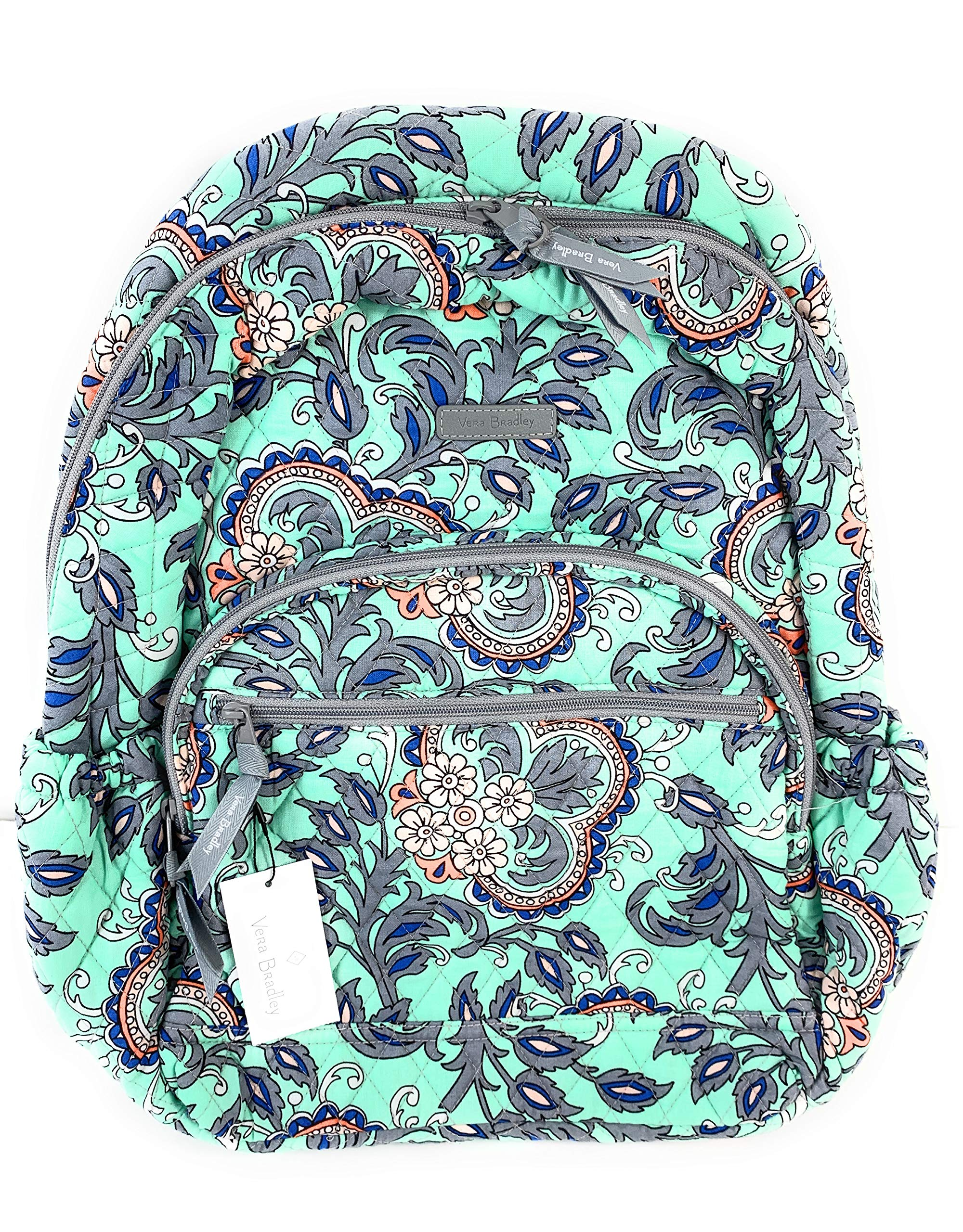 Vera Bradley Essential Backpack Cotton Fan Flowers by Vera Bradley
