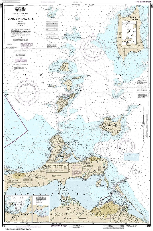 Amazon Com Noaa Chart 14844 Islands In Lake Erie Put In Bay 47 93