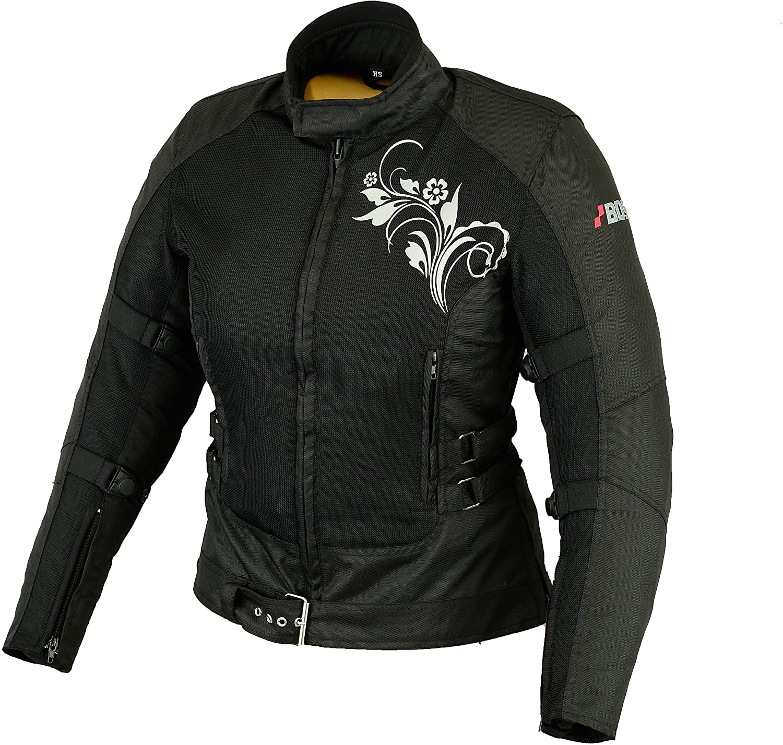 XXL Sommer Motorradjacke Airmesh Motorrad Jacke Schwarz Gr
