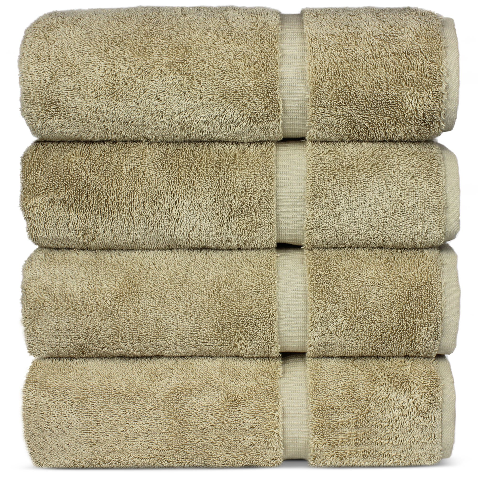 Luxury Premium long-stable Hotel & Spa Turkish Cotton 4-Piece Eco-Friendly Bath Towel Set (Driftwood) by Chakir Turkish Linens (Image #5)