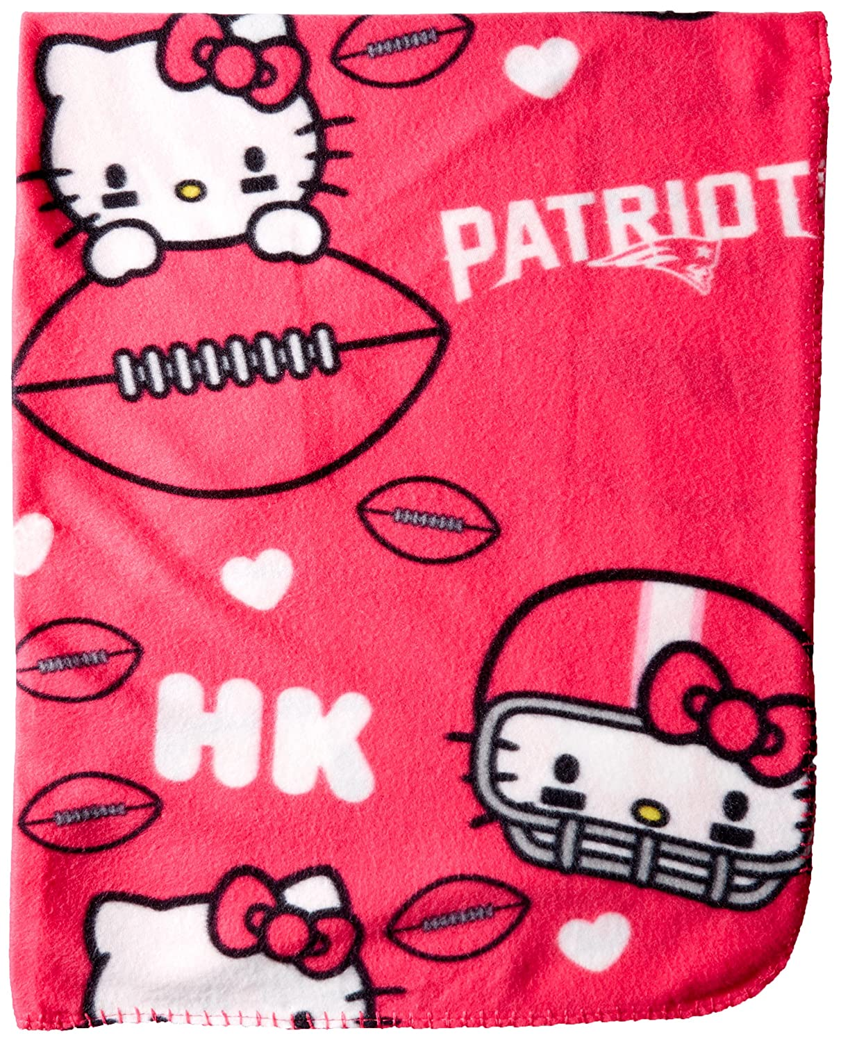 Pink Officially Licensed NFL Co Sanrios Hello Kitty Hugger and Fleece Throw Blanket Set 40 x 50