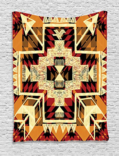 Amazon.com: Ambesonne Arrow Tapestry Decor, Native American Inspired ...