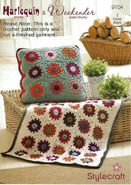 Stylecraft Harlequin Weekender Crochet Pattern Throws Rugs Cushion