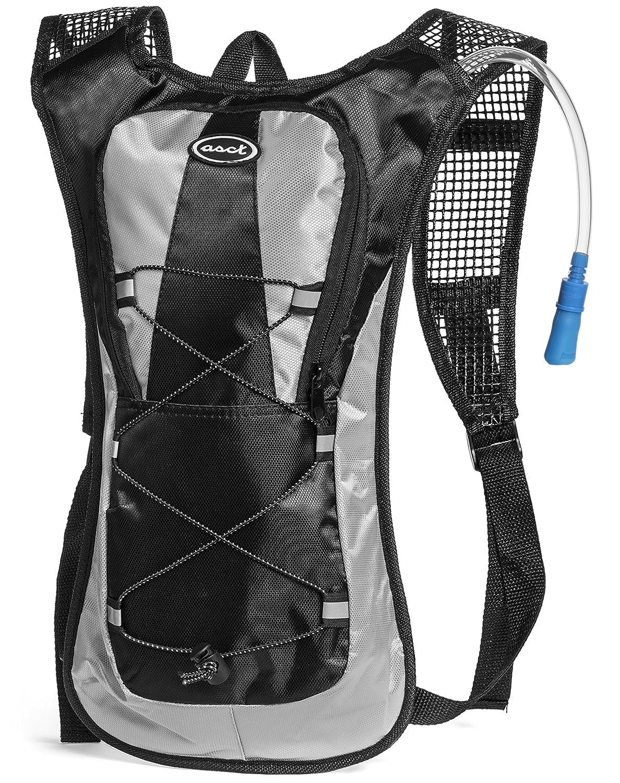 ASCT - La hidratación Pack - Ultra ligero! - Mochila minimalista y 2L agua de la vejiga / botella. Perfecto para acampar, senderismo, correr, ciclismo, ...