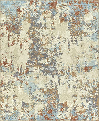 Maples Rugs Southwestern Stone Distressed Abstract Large Area Rugs Carpet for Living Room Bedroom Made in USA , 7 x 10, Multi