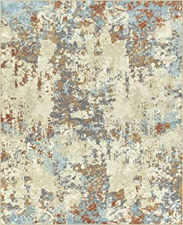 product image for Maples Rugs Southwestern Stone Distressed Abstract Large Area Rugs Carpet for Living Room & Bedroom [Made in USA], 7 x 10, Multi