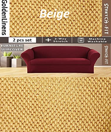 Amazon Com 2 Pcs Stretch Slipcovers Set Couch Sofa And Loveseat