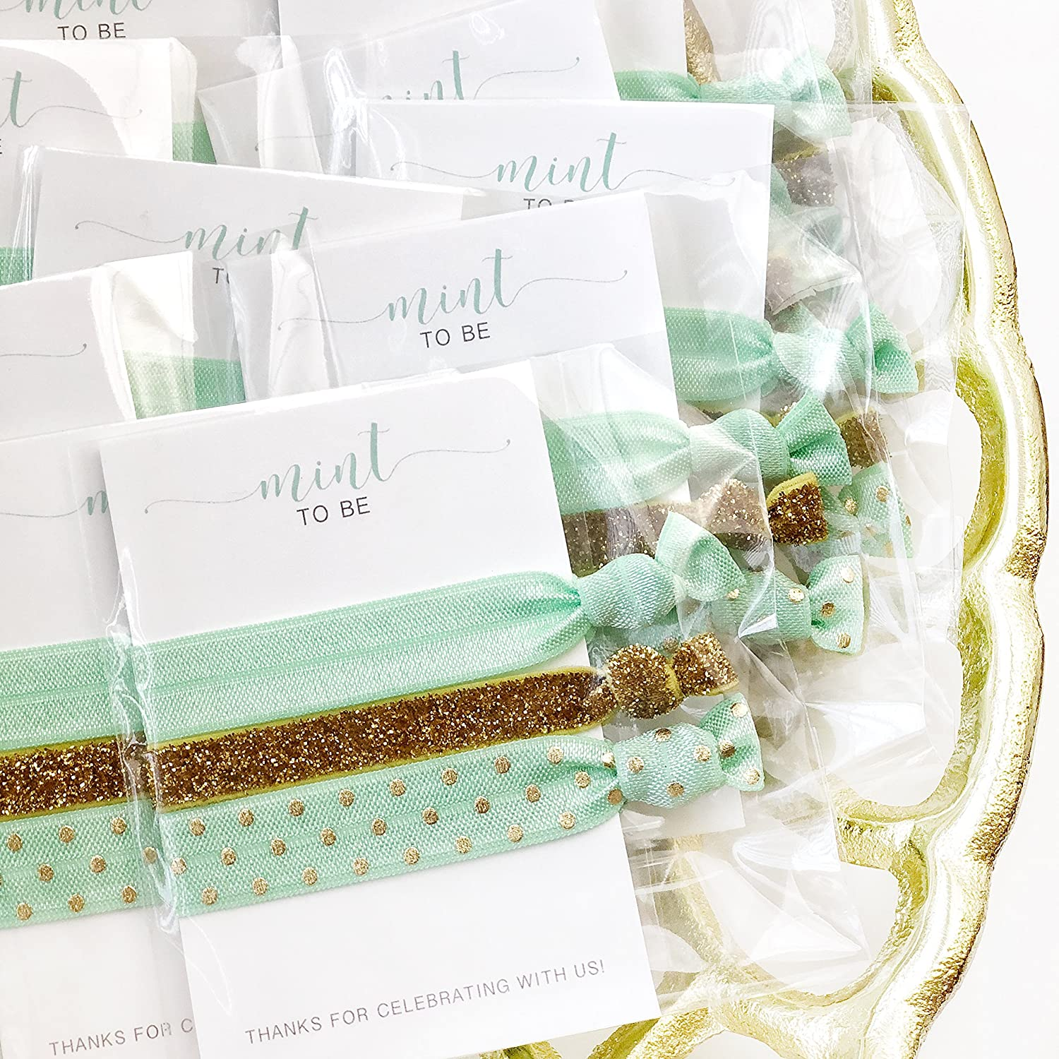 Mint To Be Bridal Shower, Bachelorette Party and Baby Shower Favours - Hair Ties (5 Pack)