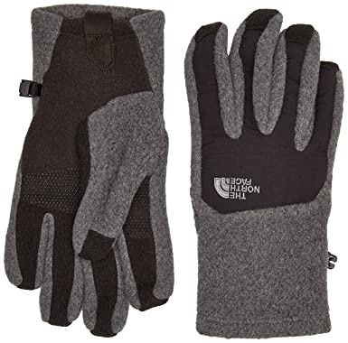 13cff552746 The North Face Men s Men s Denali Etip Glove Charcoal Grey Heather TNF Black  SM