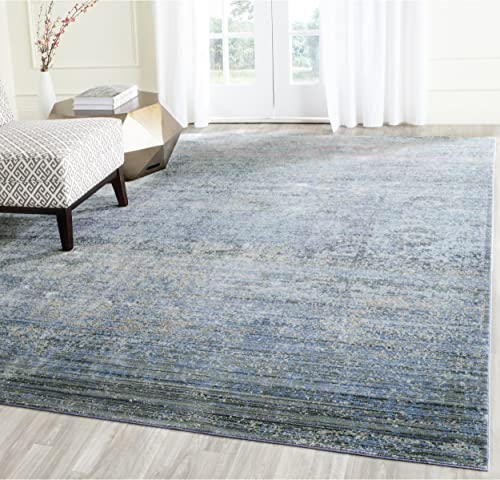 Safavieh Mystique Collection MYS920F Vintage Watercolor Overdyed Blue and Multi Distressed Area Rug 10 x 13