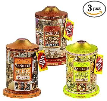 Basilur Romantic Pets London Music Tins Music Concert Collection Pure Ceylon