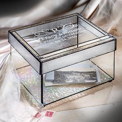 Amazon.com: J Devlin Box 841 Personalized Wedding Card Box Engraved ...
