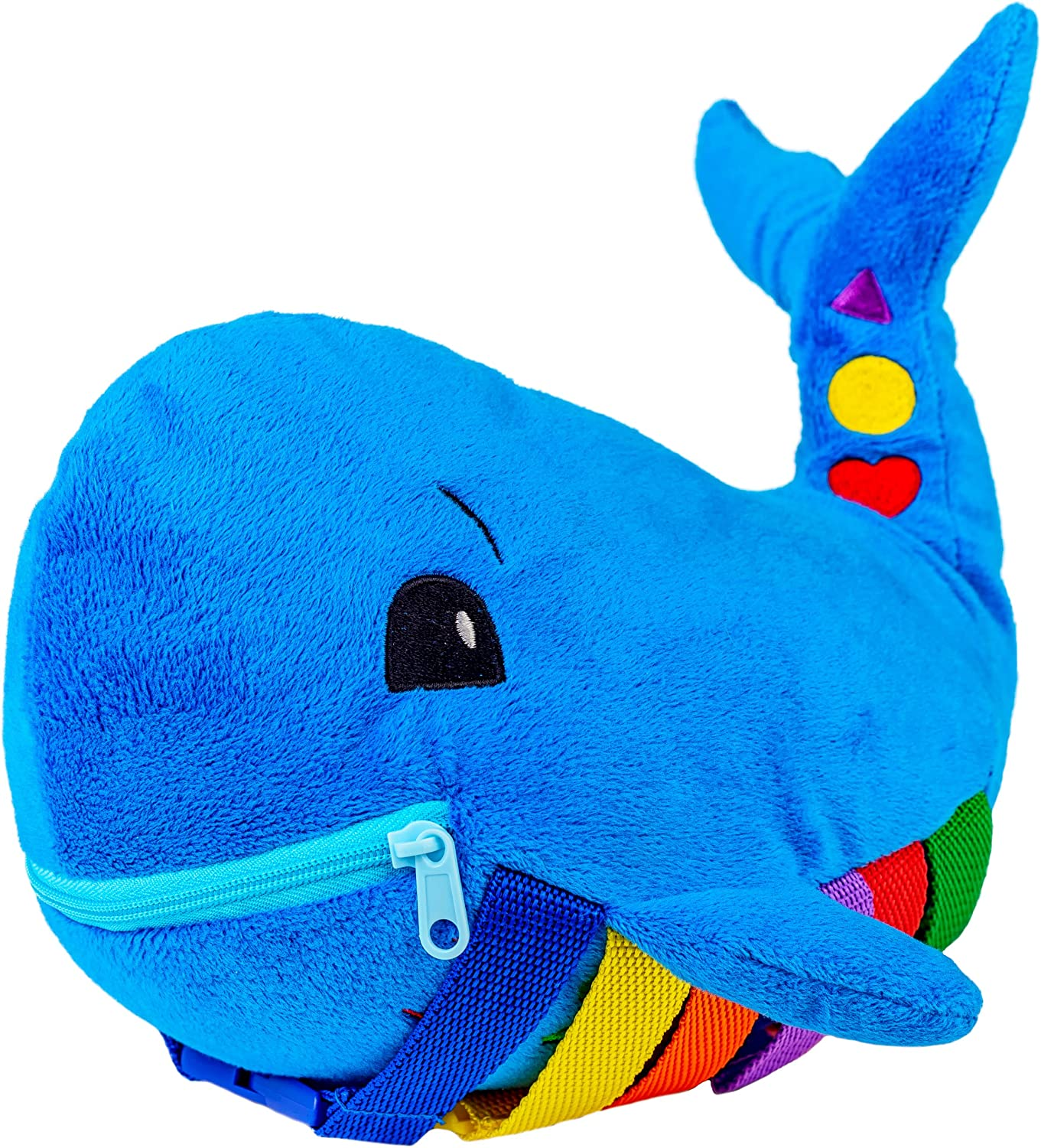 Kid/'s Buckle Hold Pillow Toddler Early Learning Basic Skills Plush Toy Colorful