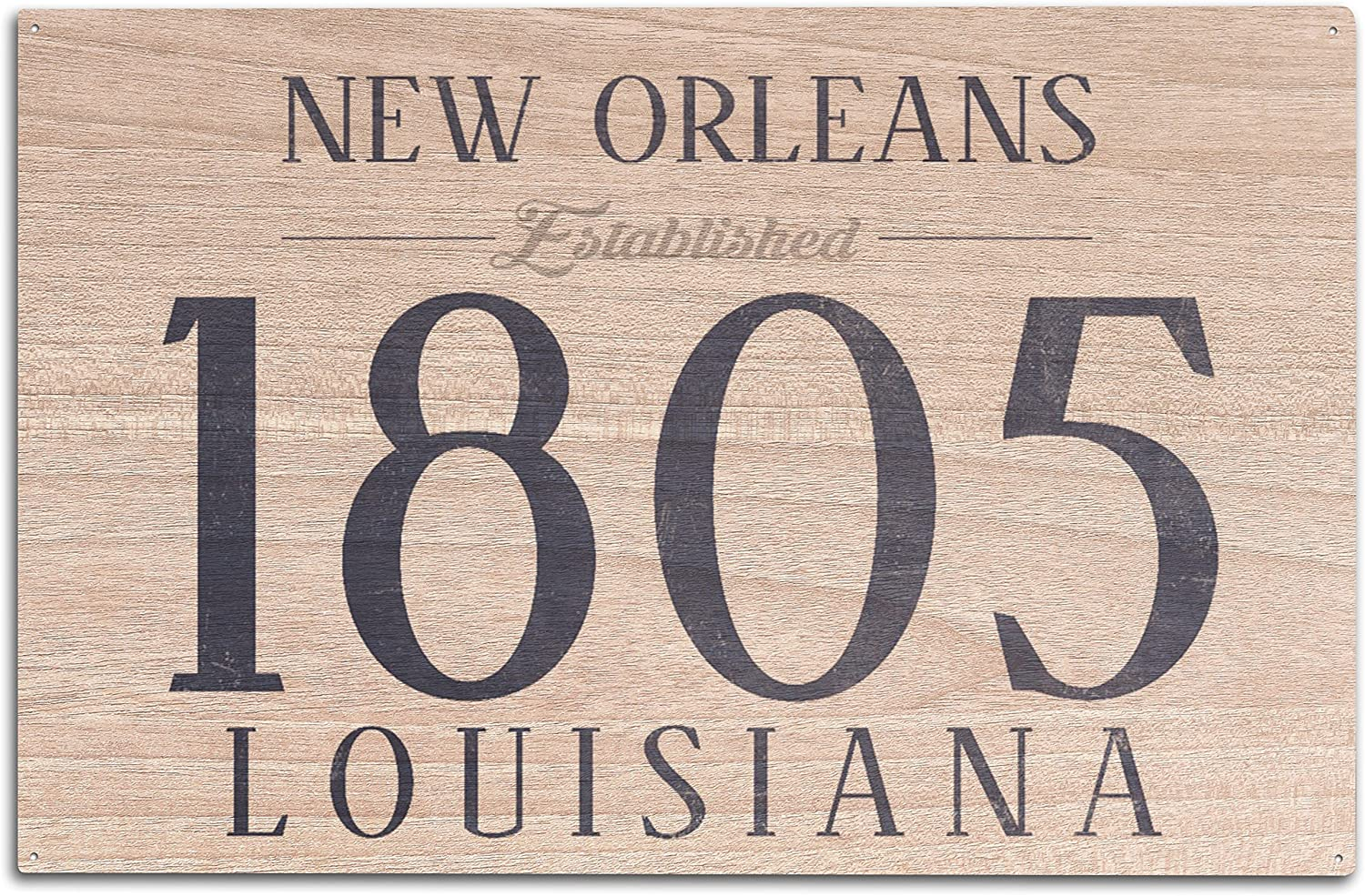 Louisiana Blue 36x54 Giclee Gallery Print, Wall Decor Travel Poster Established Date New Orleans