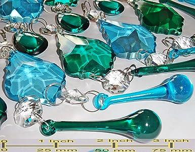 Kronleuchter Tropfen ~ Blaugrün blau pfau grün mix farbe rainbow kronleuchter tropfen