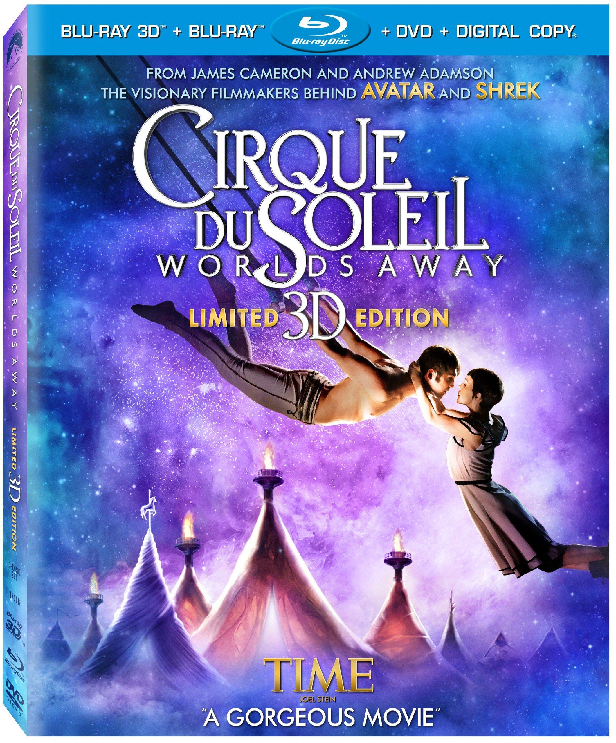 Cirque Du Soleil - Worlds Away (Three-Disc Combo: Blu-ray 3D / Blu-ray / DVD / Digital Copy) by Paramount