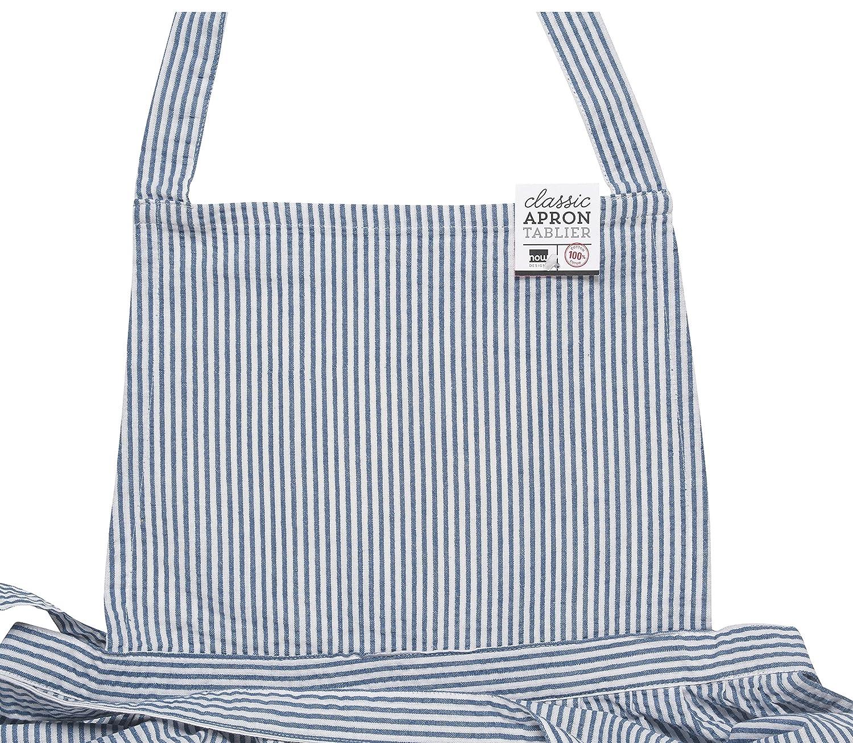 Amazon.com: Now Designs Classic Apron, Blue Seersucker: Home & Kitchen