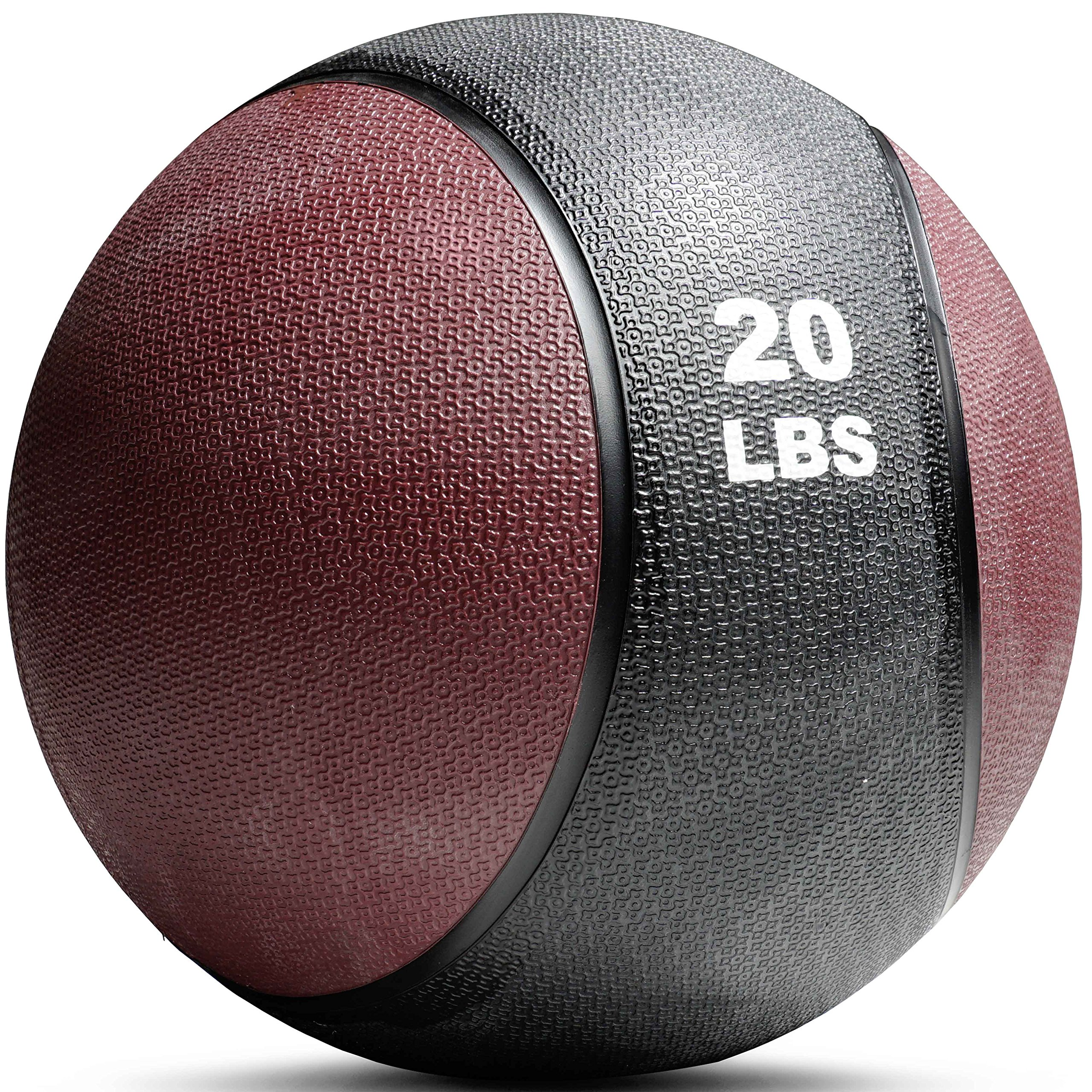 Titan Fitness Weighted Medicine Ball 20lb Rubber Muscle Driver Sport Therapy