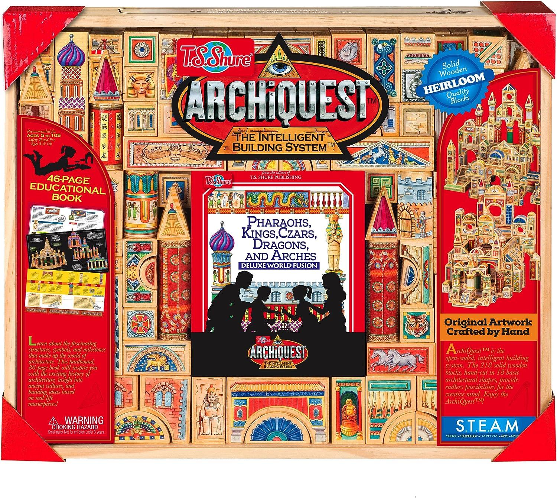 T.S. Shure Archiquest Deluxe Mundo Fusion Bloques de Madera: Pharaohs, Reyes, Czars, Dragones, y Arcos: Amazon.es: Juguetes y juegos