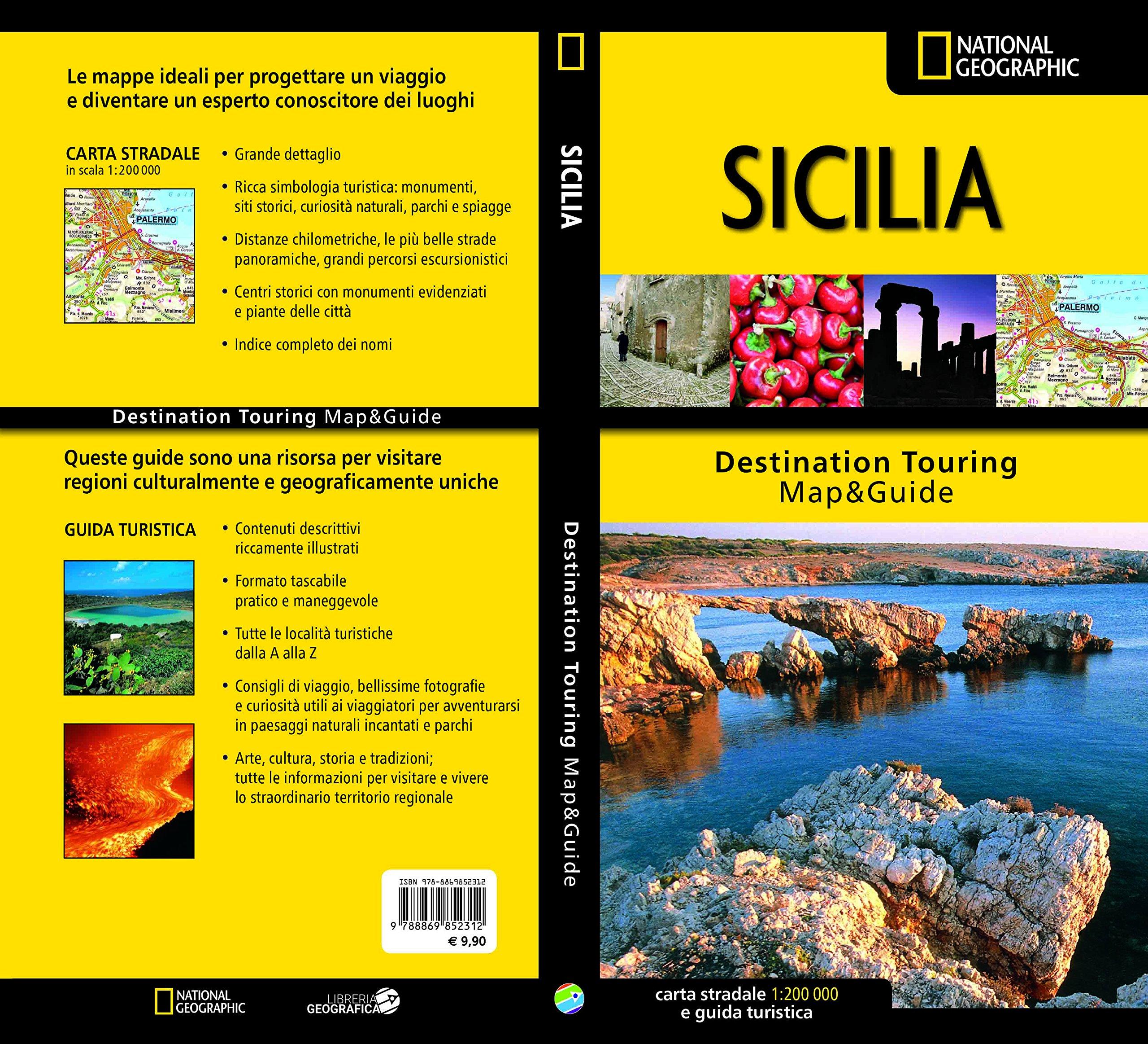 Cartina Della Sicilia Turistica.Amazon It Sicilia Carta Stradale E Guida Turistica 1