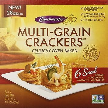 Crunchmaster - Galletas multigrano para horno: Amazon.com ...