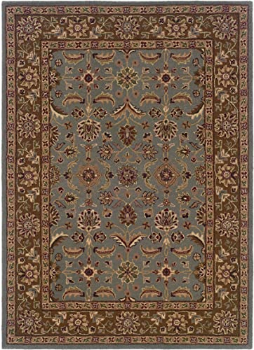 Linon Trio Traditional Natural Fiber Rugs, 1 10 x 2 10 , Light Blue