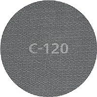 Wolfcraft Haft-Gitterleinen Durchmesser 180 mm, Korn 120, für Haft-Schleifteller, 5 Stück, 5615000