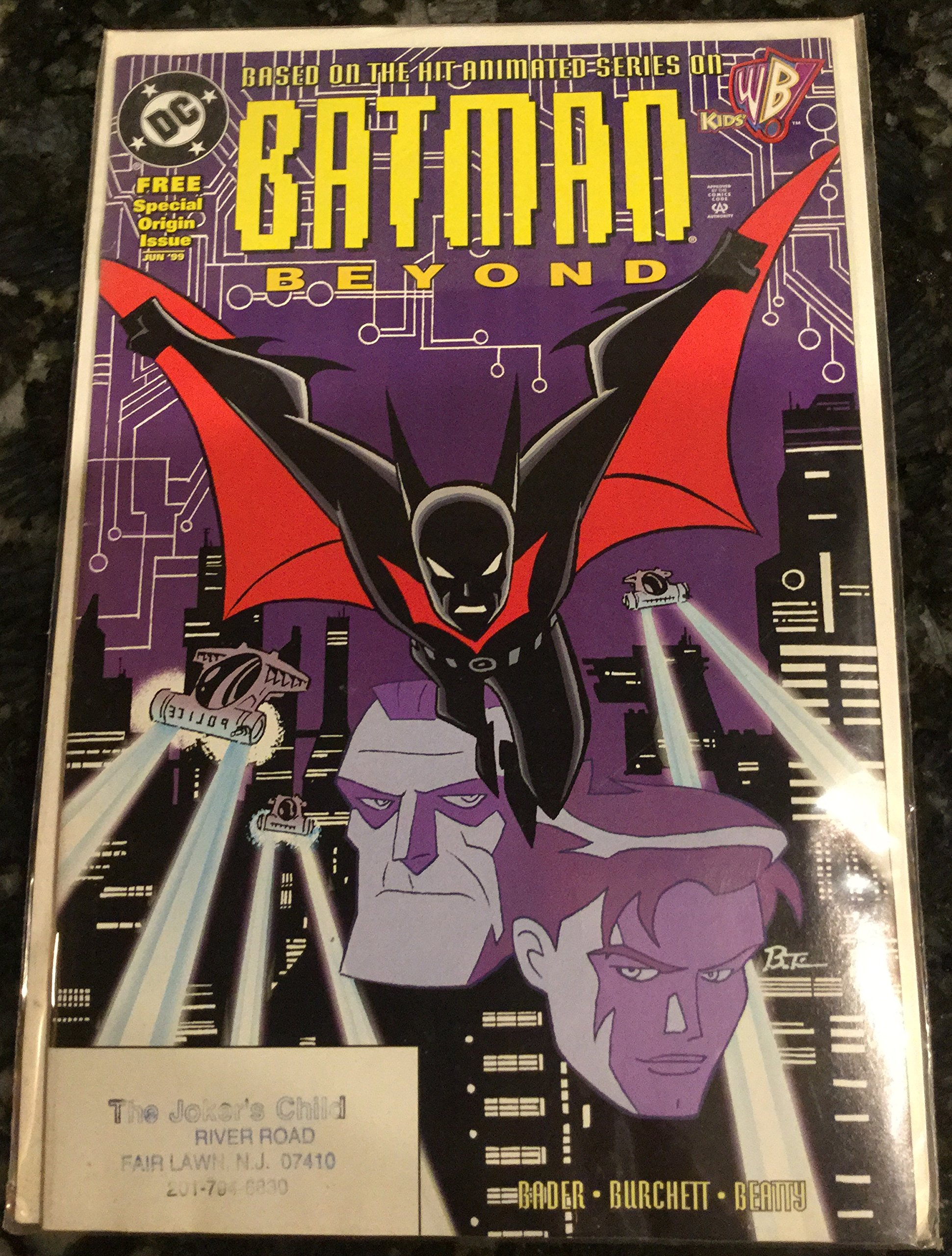 DC Comics RARE  Variant Edition Cover Batman Beyond #1