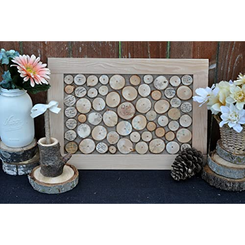 Wedding guest book alternative rustic wood wedding guest sign in book wedding guestbook frame rustic pen pen holder set Active