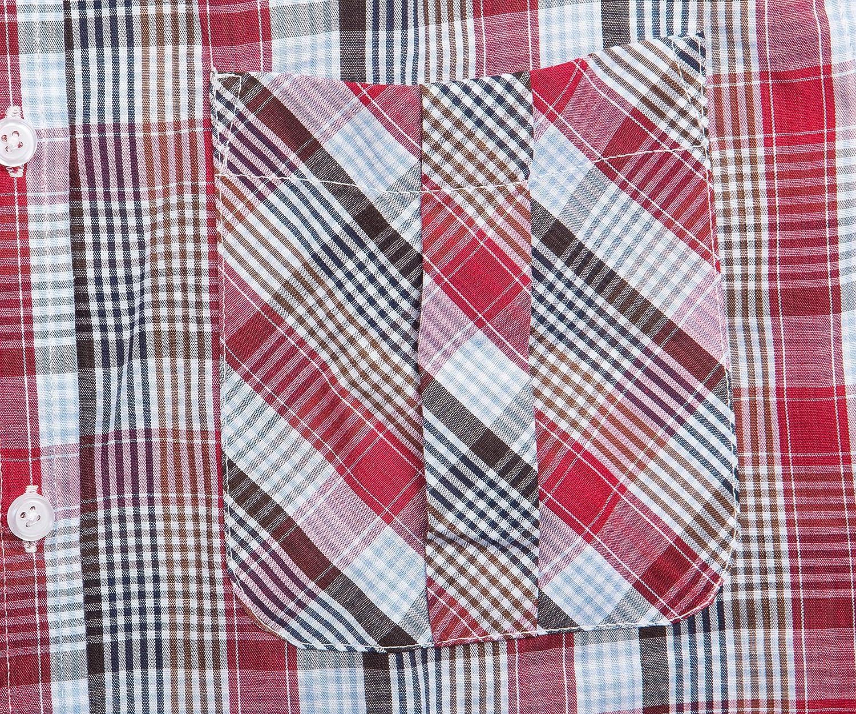 NUTEXROL Mens Casual Sleeveless Shirts Checked Cotton Plaid Vest