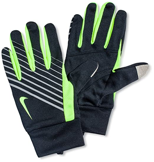 blue and pink nike runners gloves
